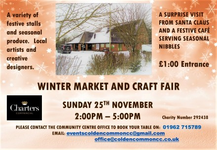 Winter Market Pomotional Poster With Sponsors