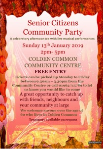 senior citizens party invitation 2019 free entry