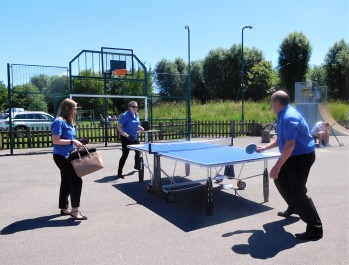 Thornden Playing Table Tennis