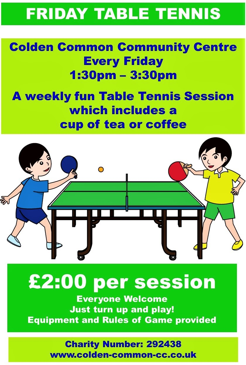 Friday Table Tennis Session New Poster JPG